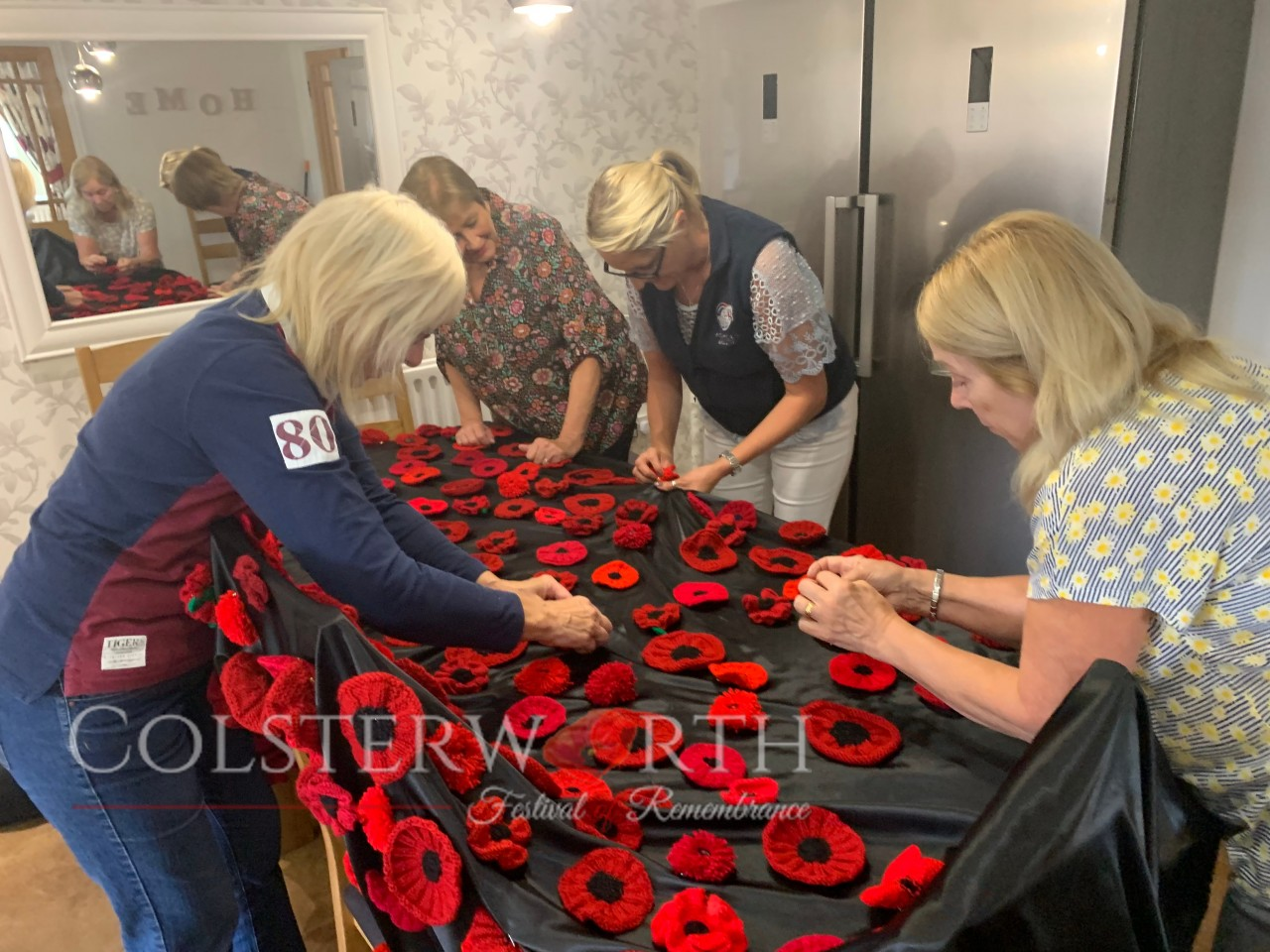 Poppy ladies gathering ideas for the wall