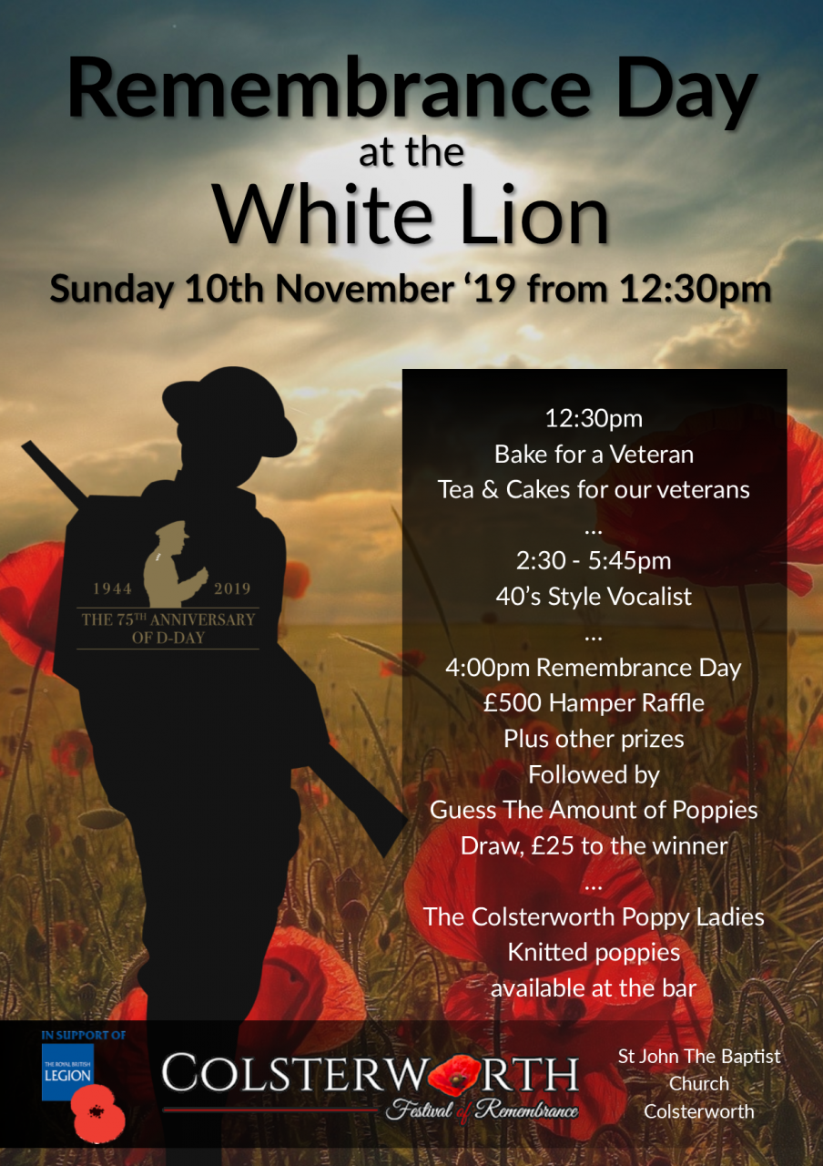 Remembrance Day Timeline at The White Lion