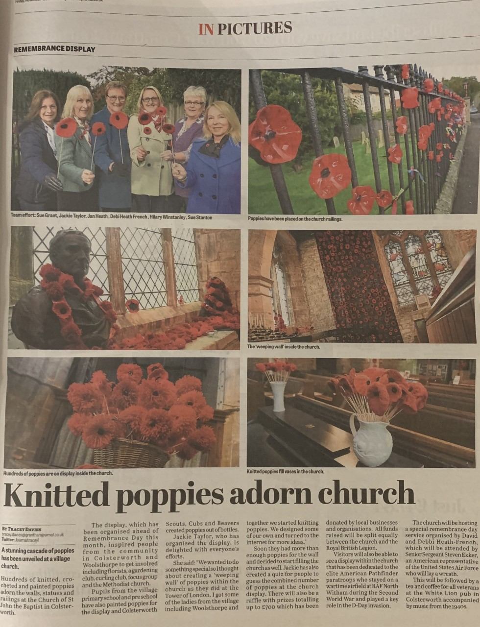 "Jackies' ""Poppy Ladies"" make the Grantham Journal"
