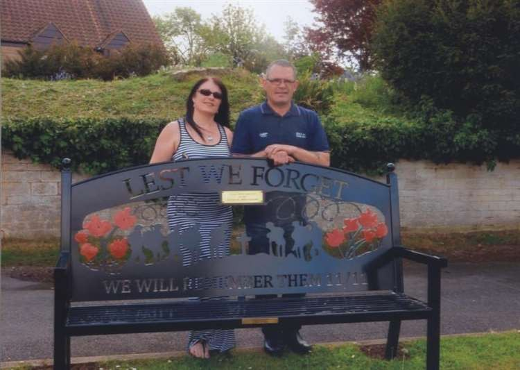 Lest We Forget Village Bench