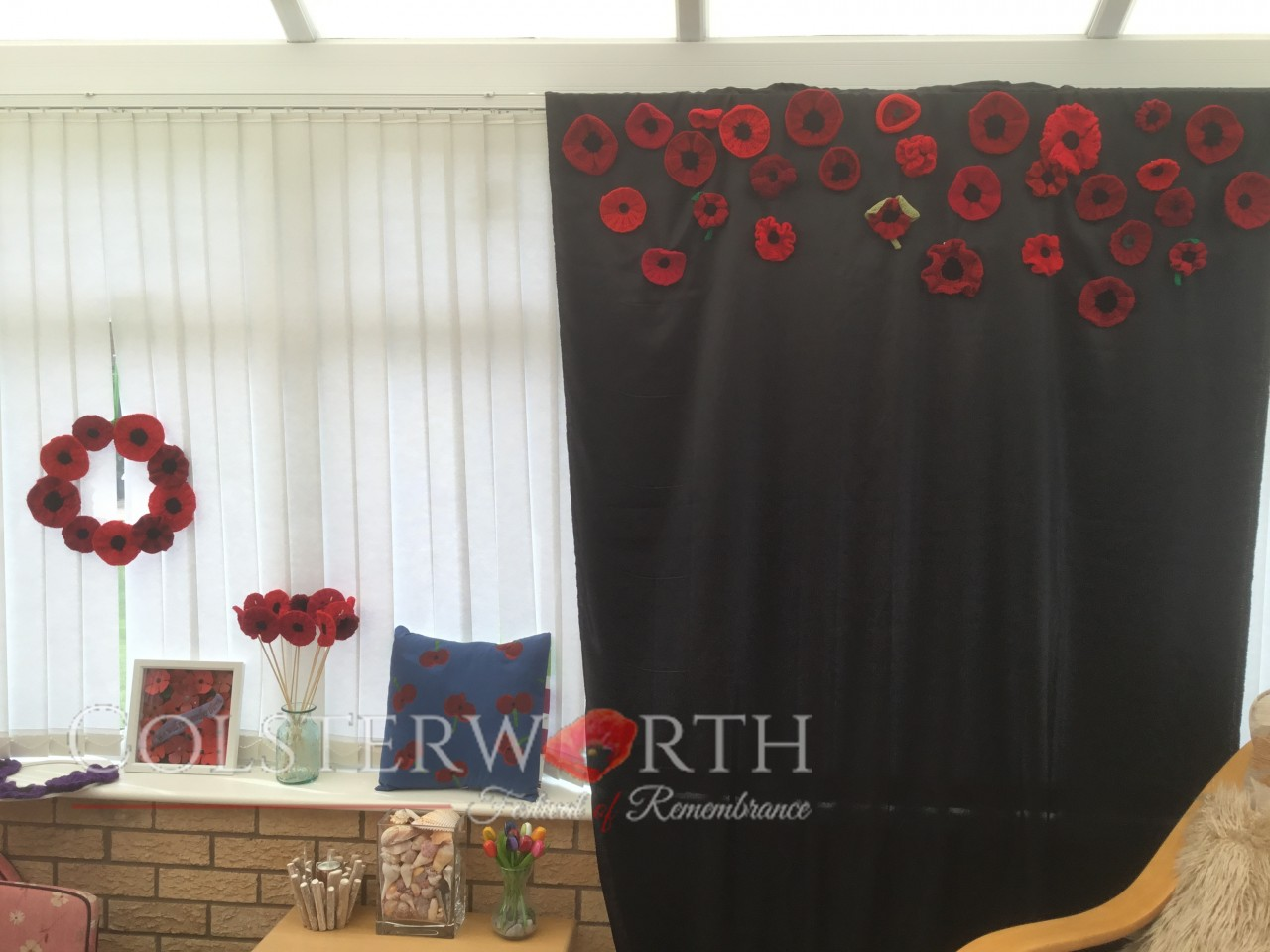 The Colsterworth Wheeping Poppy Wall takes shape